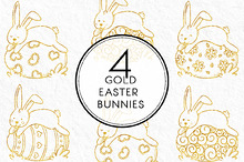 Gold Easter Bunnies