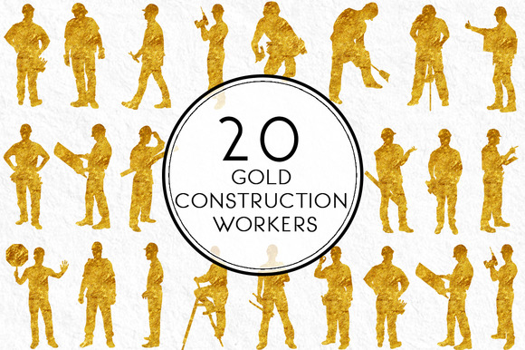 Gold Construction Workers