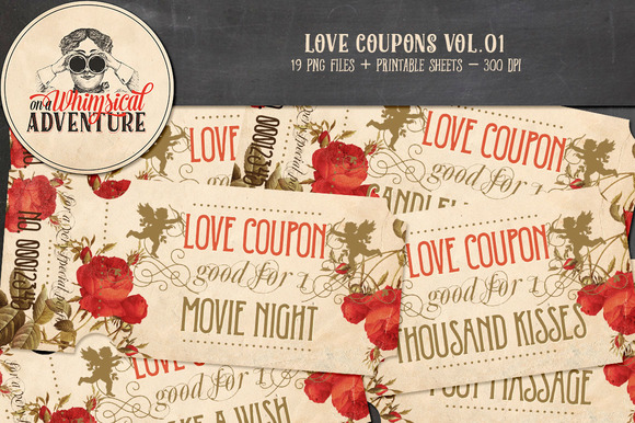 Printable Love Coupons Vol.01 - Objects