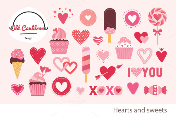 Valentine's Sweets Clipart CL019