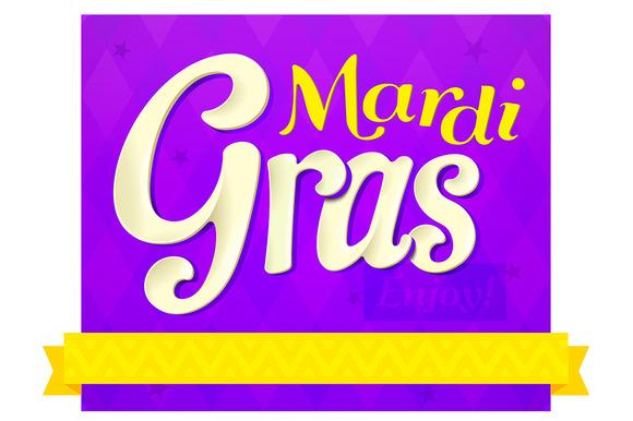 SET 3 MARDi GRAS Designs