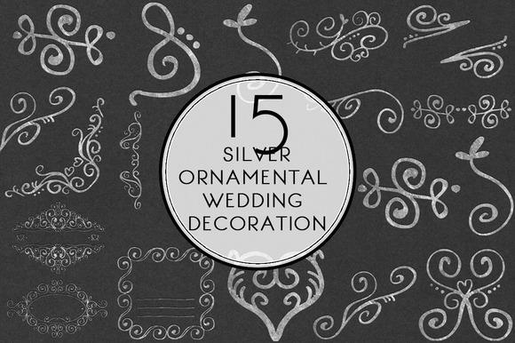 Silver Ornamental Wedding Decoration