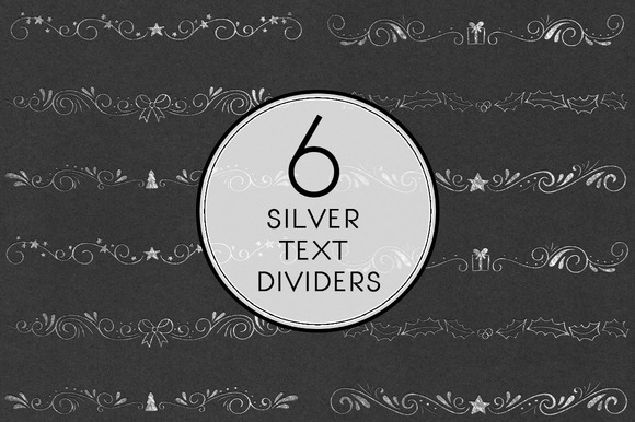 Silver Text Dividers