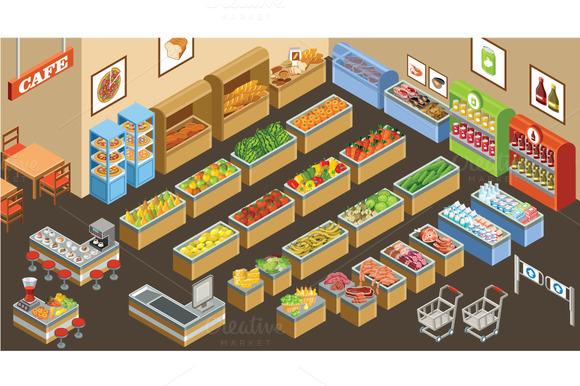 Isometric Supermarket