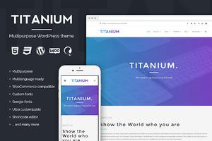 Titanium - Premium WordPress theme