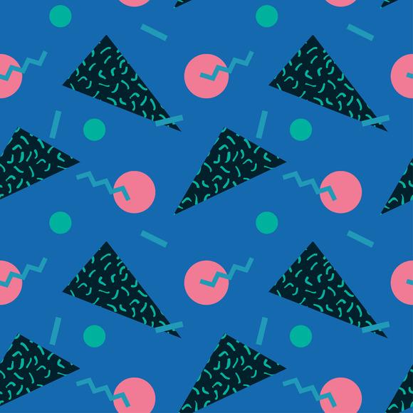 seamless pattern 80s. Vector. - Patterns