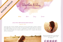 Blogger Template - Heather & Hay