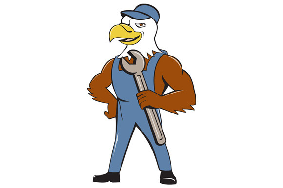 American Bald Eagle Mechanic Spanner