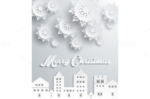 Paper Frame Town. Merry Christmas - Illustrations