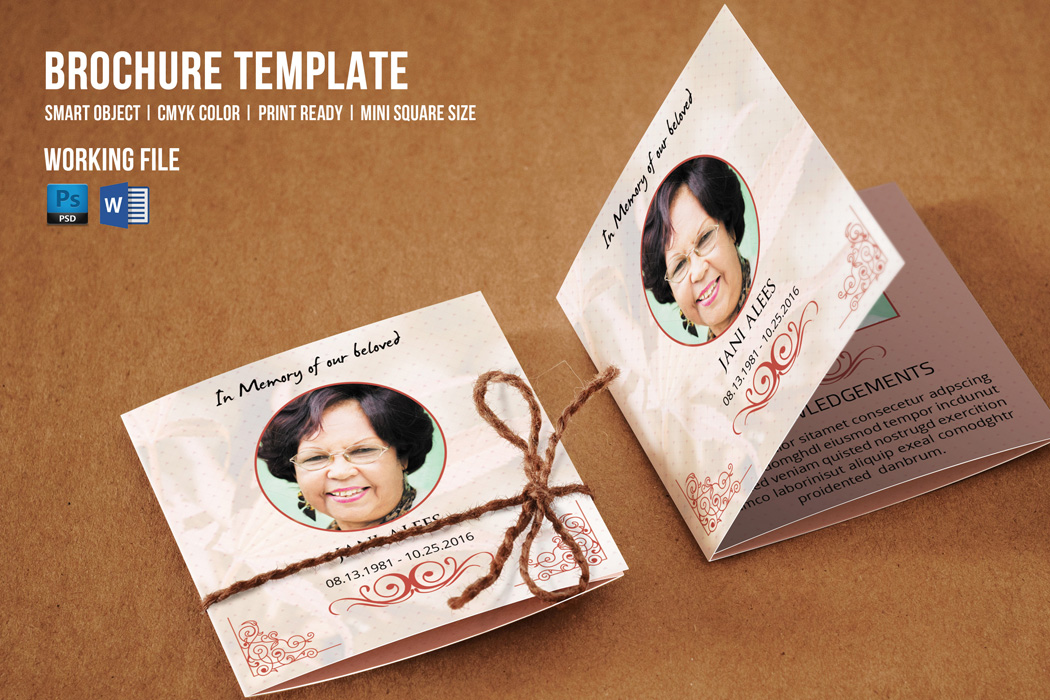 mini brochure template mini square funeral template v375 brochure templates on