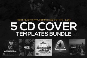 5 CD Cover Templates Bundle vol.1