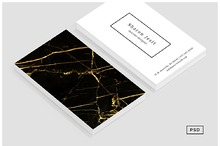 Black & Gold Marble Business Card