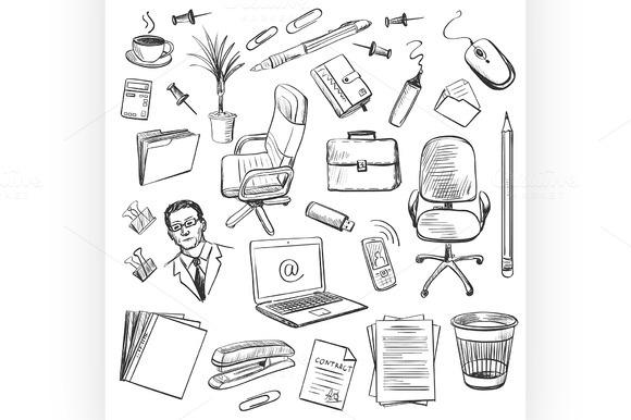 Office Equipment Isometric