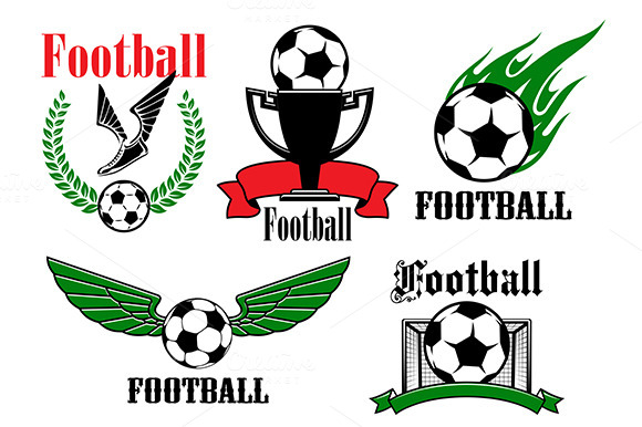 Football Or Soccer Icons And Symbols
