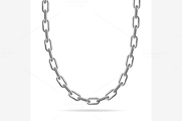 Metal Chain Jewelry. Vector - Objects