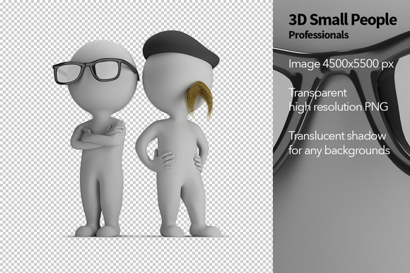 3D Small People Professionals
