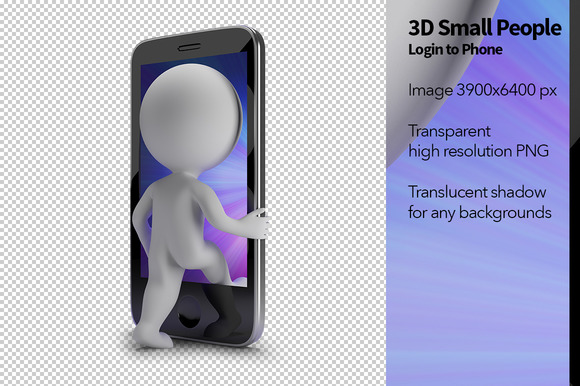 3D Small People Login To Phone