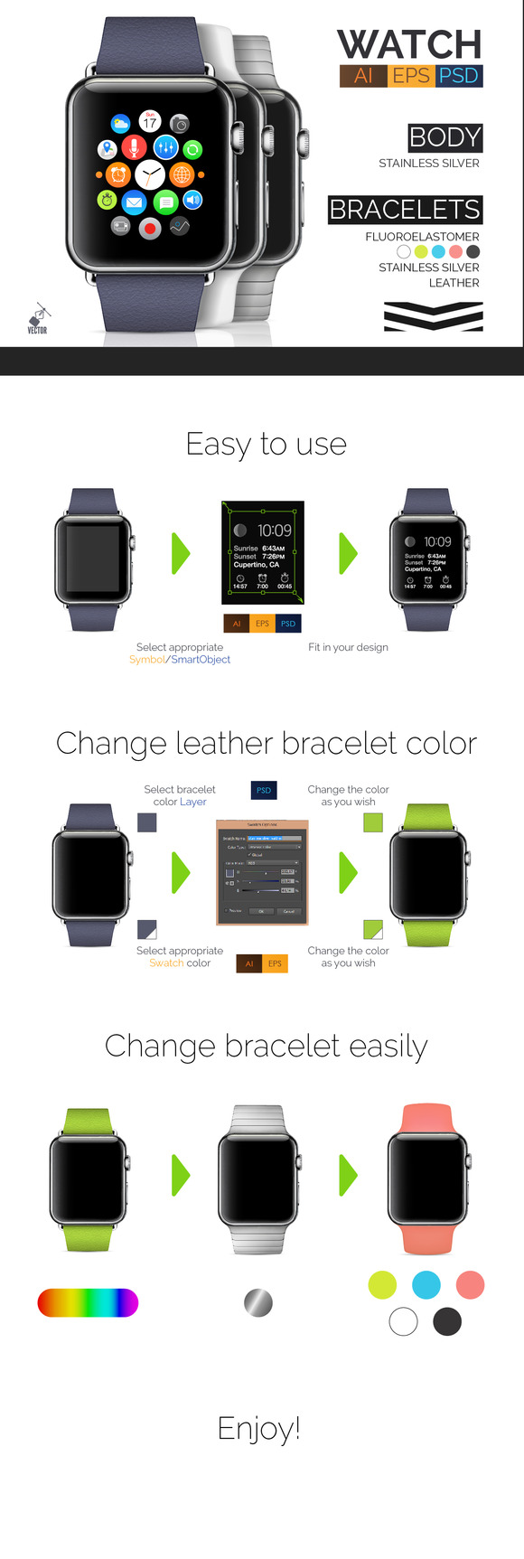 Stainless Apple Watch BONUS
