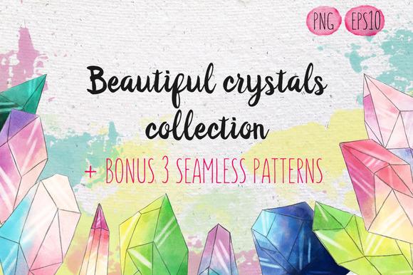 Watercolor Crystals Set Bonus