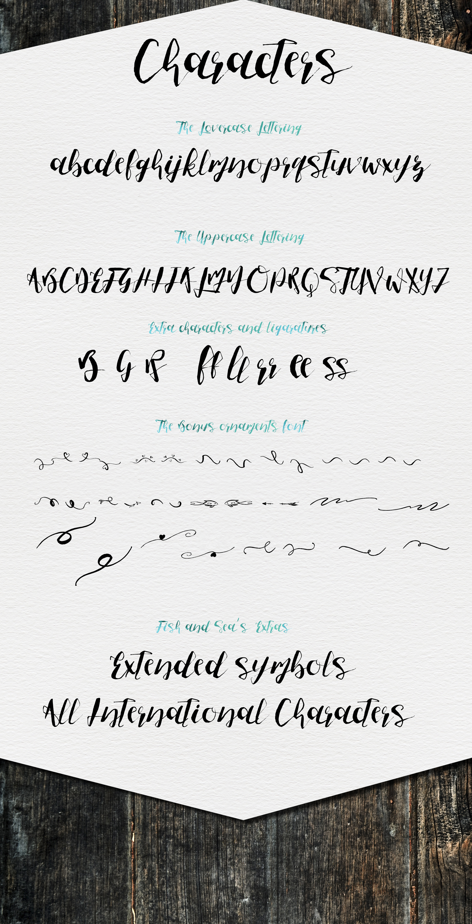 [%25OFF]Fish and Sea Typeface+Extras - Script - 10