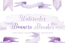 Banner Photoshop Brushes HandPainted