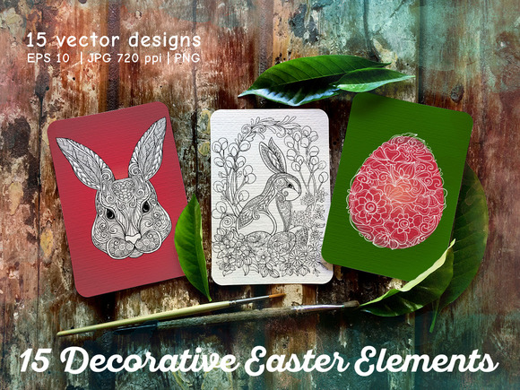 15 Decorative Easter Elements