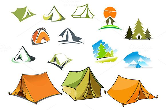 Tourism And Camping Symbols