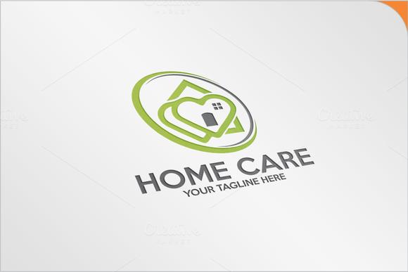 Love Home Care Logo Logo Templates On Creative Market