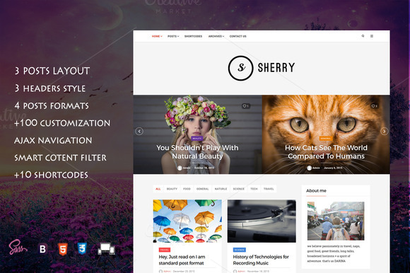 Sherry - Elegant Blog Theme - Blog