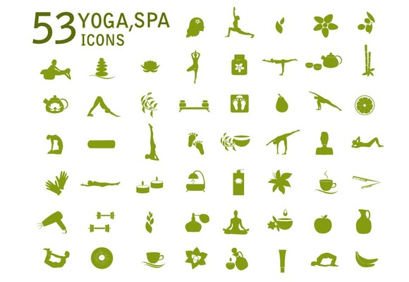 Set Spa Massage And Yoga Icons