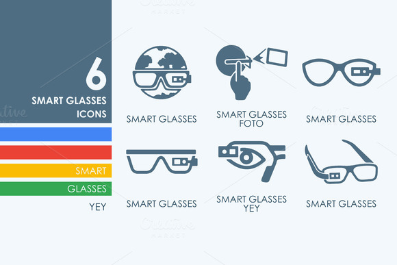 6 High-Tech Glasses Icons