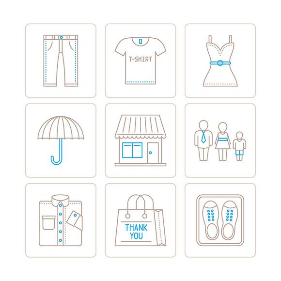 Clothes Iconset Mono Line Style
