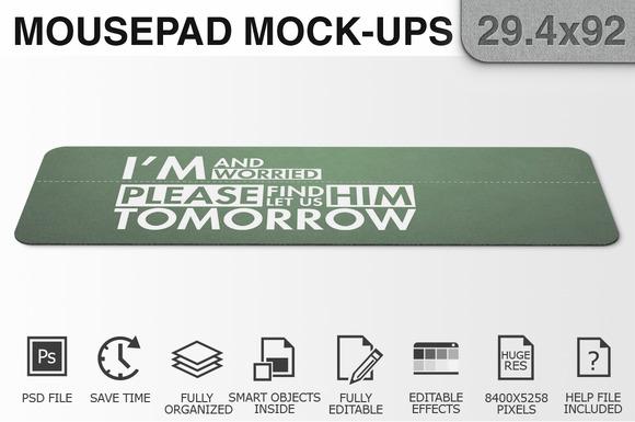 Mousepad Mockups - 29.4x92 - 2 - Product Mockups