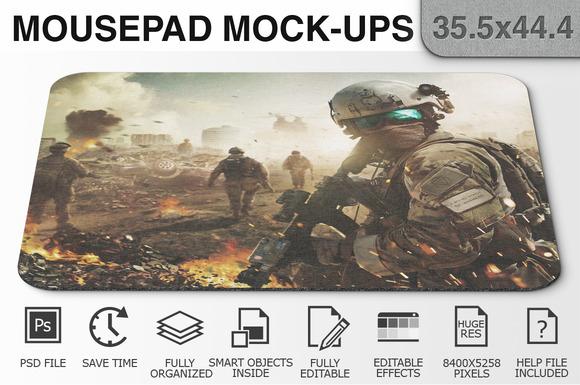Mousepad Mockups - 35.5x44.4 - 2 - Product Mockups