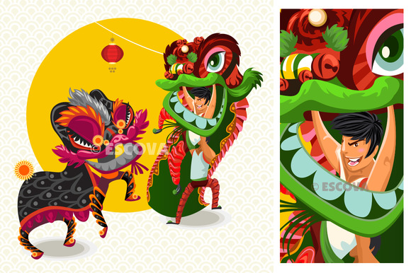 Chinese Lunar Ney Year Dance Fight