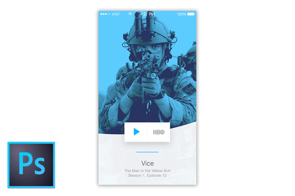Spotify Style Mobile Contents View