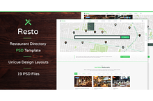 Resto — Listing PSD Template