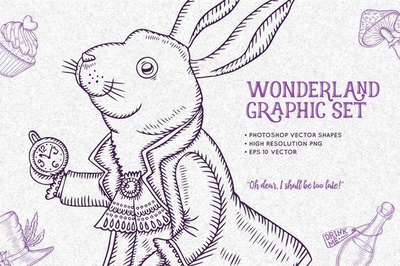 Wonderland Graphic Set