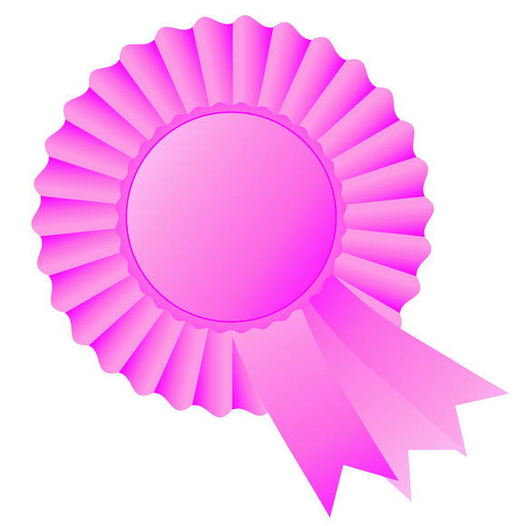 Rosette Ribbon Pink