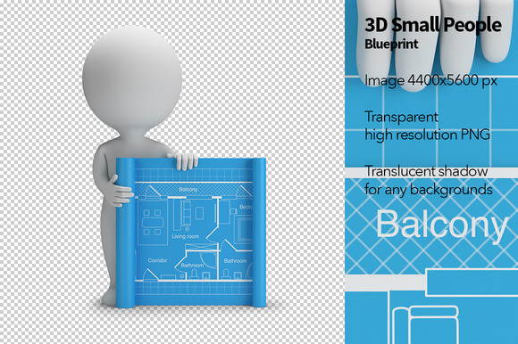 3D Small People Blueprint