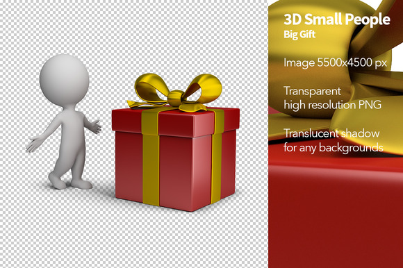 3D Small People Big Gift