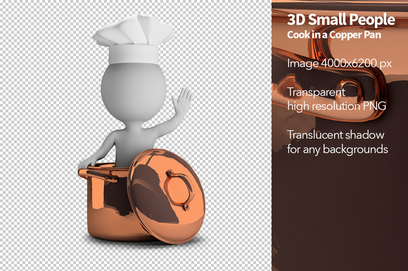 3D Small People Cook