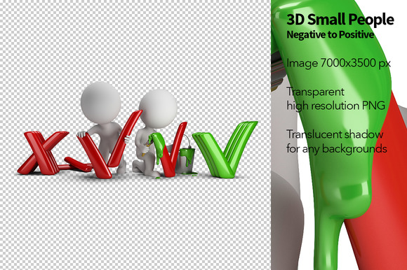 3D Small People Positive