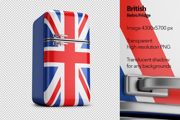 British Retro Fridge