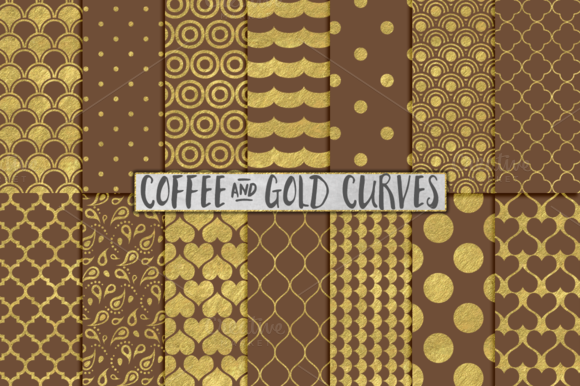Brown And Gold Foil Backgrounds