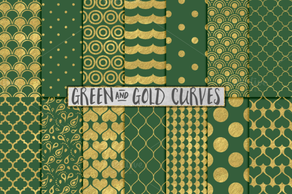 Green And Gold Foil Backgrounds
