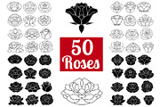 50 Rose Flowers: Logo Bundl-Graphicriver中文最全的素材分享平台