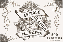 Antique Graphic Elements Brushes