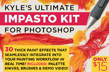 Kyle's Impasto Kit for Photoshop