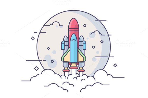 Startup Space Rocket